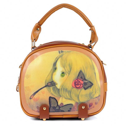 A209 Cute printing famous woman brand bag