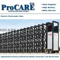aluminum factory black electric main gate designs