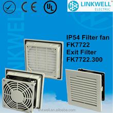FK7722 moisture-proof water-proof corrosion-proof solar panel cabinet window/door-mount ventilaion exahaust filter with fan