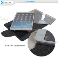good quality pu leather folio book case for ipad mini 4, soft tpu housing well hold your device