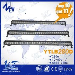Best quality 51.5inch 280w c.r.e.e single row offroad ATV UTV 280w c.r.e.e led light bar made in china