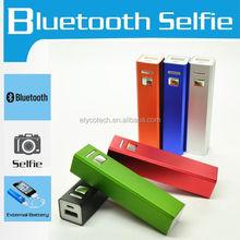 Mixed Color 2600mah Bluetooth Selfie Power Bank For Macbook Pro /Ipad Mini