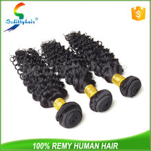 China wholesale Deep Wave hair thick unprocessed virgin brazilian human hair