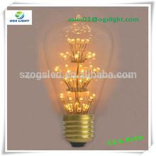 Antiguos vintage edison bombillas 60w/interior de la iluminación de cristal barato de la lámpara colgante