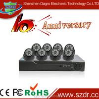Good Qulity H.264 CCTV DVR KIT 8CH DVR KIT CCTV Camera Kit Rohs CCTV Camera Manufacturer