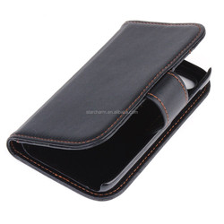Cheap price wallet leather case for Blackberry Q5