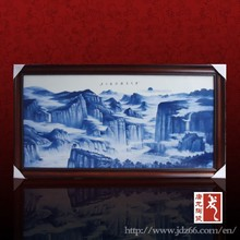 Art design blue and white porcelain board printing wall picture for hotel; decoration