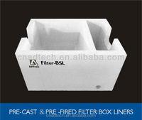 High alumina pri-fabricated lining filter box Filter-BSL