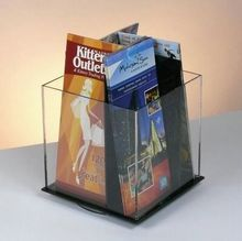 White Square Acrylic Pen Holder For Office With Fashion Design