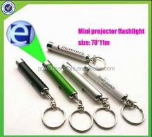 Mini LCD Red LED Light Digital Time Clock Projection Keychain flashlight keychain