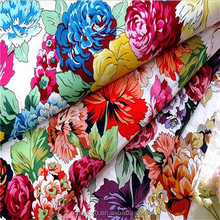 Popular 150cm combed printed cotton poplin fabric for dresses shirt