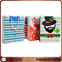 Decorative paper shopping bags