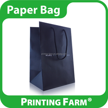 Elegant OEM Art Paper Bag With Rope Handle For Shopping