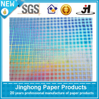 Burlap line holographic glossy metalized paper