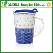 China Manufacturer Excellent Material Porcelain Coffee Mug With Lid