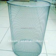 Fashionable silver waste bin
