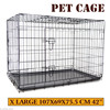 New Collapsible Portable Foldable Dog Puppy Cat Pet Metal Cage Crate House 42""