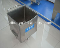 Stainless steel meat cart with wheels
