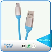 2015 NEW design braided Electroplate USB data cable for iphone 6 andriod