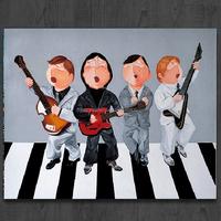 newest hot sale high quality 100%cotton printed wood handmade DIY art print photo on canvas