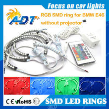2 years warranty Multi-Color RGB LED Angel Eye Halo Rings For BMW E39 E46 3 5 7 Series Headlight