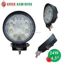 "Cheap Price 4WD Truck 24W Led Work Light,4.3"" Round 24W Led Work Light"