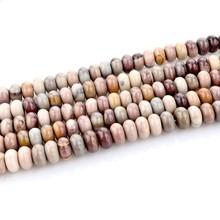 Natural Abacus Beads Blue Ribbon Loose Beads