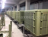 Evap industrial warehouse 18000m3/h airflow evaporative air cooling system