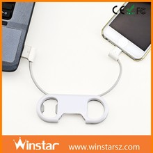 Exclusive new design usb cable waterproof connector and bottle opener for iPhone 6 or micro USB phones