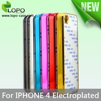 aluminum metal electroplating cell phone case for iPhone 4