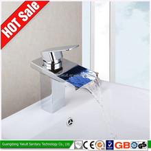 High-quality led sensor basin bath mixer, illuminated led water tap mixer