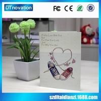 Cheap Custom Printing a4 recording sound Valentine's day greeting card