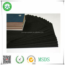 Mixed Pulp matte black paper for shopping bags