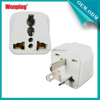 High Quality UK To Euro 2 Round Pin To 3 Pin Adapter Plug With CE&RoHS