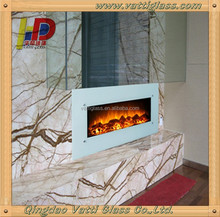 Heat Resistant Temperature Ceramic Glass Used As Wall Mounted Electric Fireplace Glass , Elegant Electric Fireplace Glass