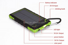 8000mah solar power bank charger,waterproof, cheapest price