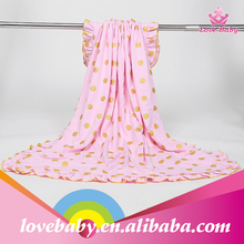 2015 New Arrival High Quality Baby Blanket Knit Woven Polka Dot Infants Blanket