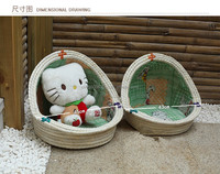 Manufacturers selling straw the cane makes up Pet litter/dog kennel Wicker pet house customizable kennel pet fence pure hand-mad