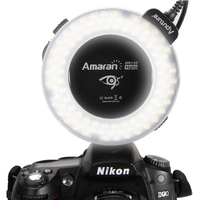 Aputure LED ring light for Nikon HN100 with 8 lens adapter 49-77mm
