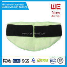 Microwave activated gel beads hot cold therapy pack for lower back