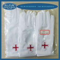 2014 useful unisex colorful warm soft winter 100% cotton white dress gloves