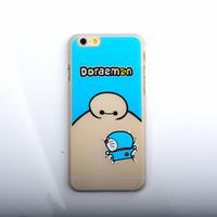 Doraemon Design Silicone Decorate Cell Phone Case, Detachable Silicone+PC Hybrid Mobile Phone Hard Case Back Cover