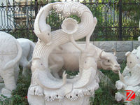 Fish china marble sculpture