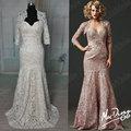 Jm. Bridals envío gratis!!! Muestra real hy191 sirena de encaje de cuentas la madre del novio con trajes de chaqueta