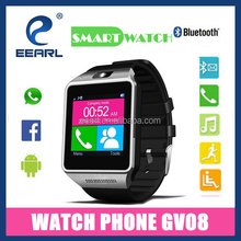 2015 latest mobile cell phone watch smart bluetooth for android phone built in 1.3 MP camera