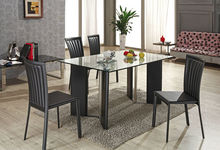 Contemporary Dining Table Simple Style Leather Covered Fabulous L838