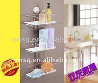 3-tire bathroom shelf&3-tier kitchen rack with suction cup&3-tier holder with suction cup&shower suction cup holder