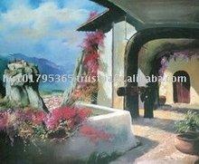 Giclee Print, Greece, Meteora painting