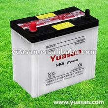 Direct Factory YUASAN JIS 12V 45AH NS60 Acid Dry Car Starting Automobile Battery
