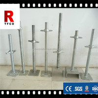 Galvanized scaffolding adjustable screw solid steel prop and jack base/U head jack